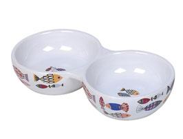 "Keramik Napf ""Fisch"" Doppelnapf"
