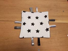 Knisperdoekje | Wit, Zwarte sterren