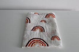 Hudrofiele doek | Regenboog in aardekleuren