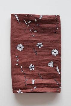 Hydrofiele doek | Bruin met bloemen