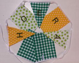 Vlaggenlijn Hoera Geel/groen