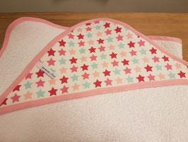 Badcape | Roze, Mintgroen en sterren