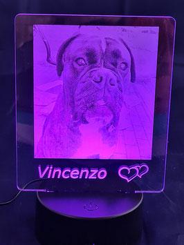Acryl 3D LED Licht  mit USB Kabel und Fernbedienung