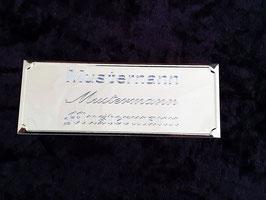Schild mit Namensgravur