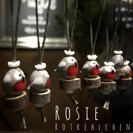 ROSIE Rotkehlchen | Glasperlen-Anhänger