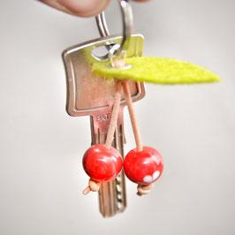 Zucker-Süß-Kirschen | Glasperlen-Schlüsselanhänger