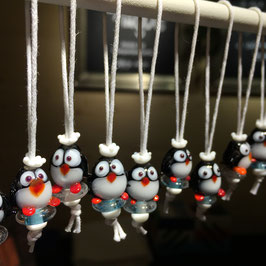 Pinguin PAUL | Glasperlen-Anhänger