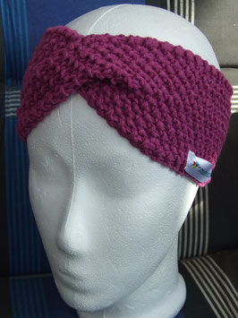 Twist-Stirnband in fuchsia