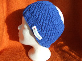 handgestricktes Stirnband in royalblau