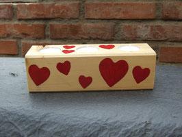 3er-Teelichthalter aus Holz