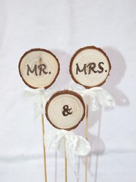 Cake-Topper für eine Hochzeitstorte