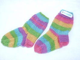 "Kinder-Stricksocken ""Regenbogen"""