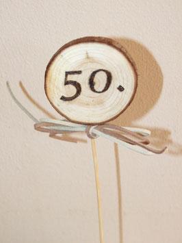 Cake-Topper mit Zahlen