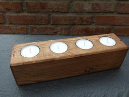4er-Teelichthalter aus Holz