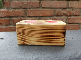 2er-Teelichthalter aus Holz