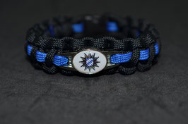Paracord Armband Thin Blue - Bayern