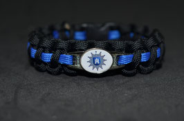 Paracord Armband Thin Blue - Hamburg