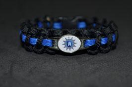 Paracord Armband Thin Blue - Hamburg