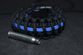 Paracord Armband - Thin Blue Line  King Cobra