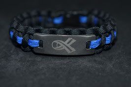 Paracord Armband - Polizist = Mensch - Steel Edition