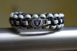 Paracord Armband - Oakland Raiders -
