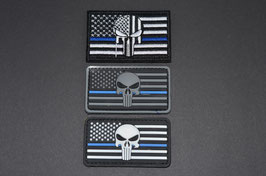 Patch - Thin Blue Line Punisher - Small -