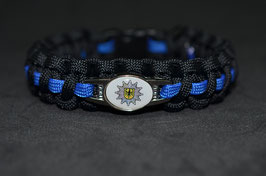 Paracord Armband Thin Blue - Bundespolizei