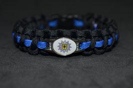 Paracord Armband Thin Blue - Bundespolizei
