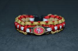 Paracord Armband - San Francisco 49ers -