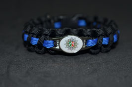 Paracord Armband Thin Blue - NRW