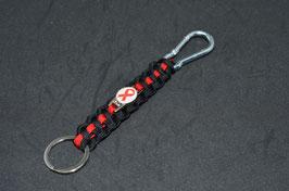 Paracord Schlüsselband - Aids Schleife