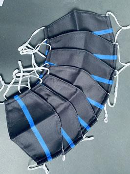 Mund-Nase-Bedeckung - Thin Blue Line