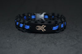 Paracord Armband - Polizist - Mensch Schleife - Black Edition
