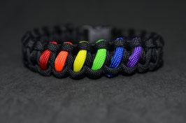 Paracord Armband - Regenbogen -