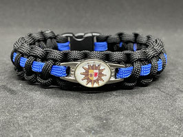 Paracord Armband Thin Blue - Mecklenburg Vorpommern