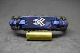 Paracord Armband - Polizist = Mensch  - Blue Edition