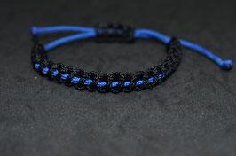 Paracord Armband - Thin Blue Ultra small