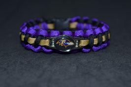 Paracord Armband -Ravens -