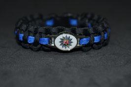 Paracord Armband Thin Blue - Rheinland Pfalz