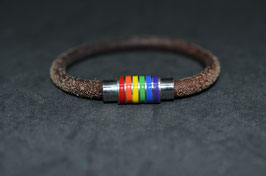 Lederband  - Rainbow