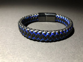 Lederarmband Thin Blue