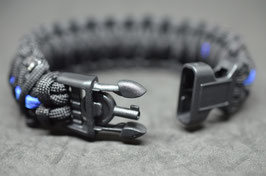 Paracord Armband - Thin Blue Line  King Cobra - Key