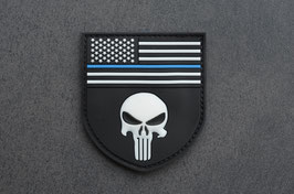 Blue Thin Line Punisher Patch - Big -