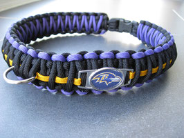 Hundehalsband King Kobra 3-farbig - mit Emblem -