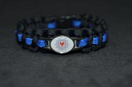 Paracord Armband Thin Blue - Brandenburg