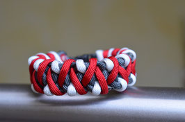 Paracord Armband Caged Solomon - RED