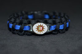 Paracord Armband Thin Blue - Schleswig-Holstein