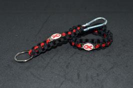 Paracord Armband - Aids Schleife