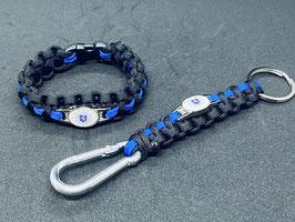 Paracord Armband Thin Blue - Hessen