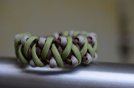 Paracord Armband - Caged Solomon -Tan
